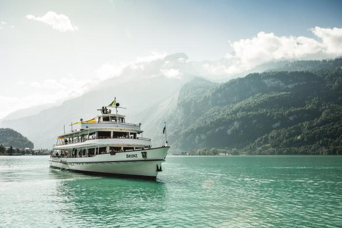 Barco no Lago de Brienz - valido tambêm com Swiss Travel Pass