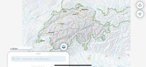 Swisstopo visualizado em meu smartphone.
